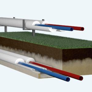 Virszemes un pazemes cauruļu siltumicolācija